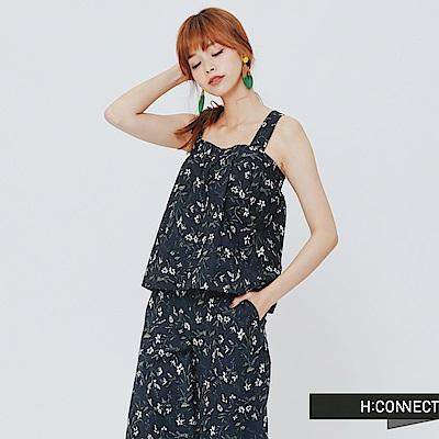 H:CONNECT 韓國品牌 女裝-兩件式滿版印花褲裝 - 動態show