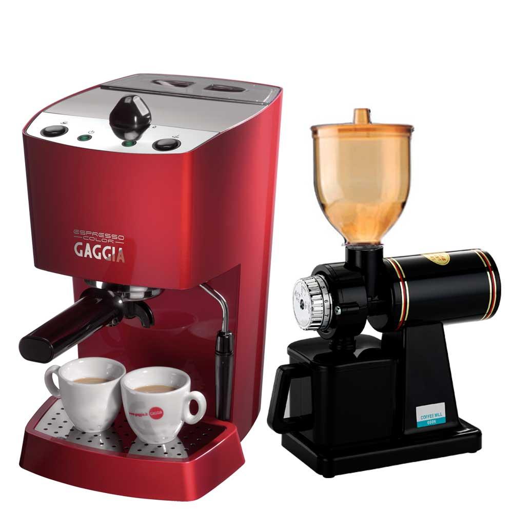 GAGGIA半自動咖啡機(HG0218)+Tiamo磨豆機(HG0086)