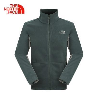 The North Face北面男款灰色抓絨保暖外套