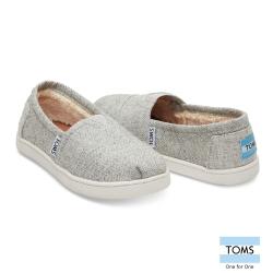 TOMS 斜紋內鋪毛休閒鞋-孩童款