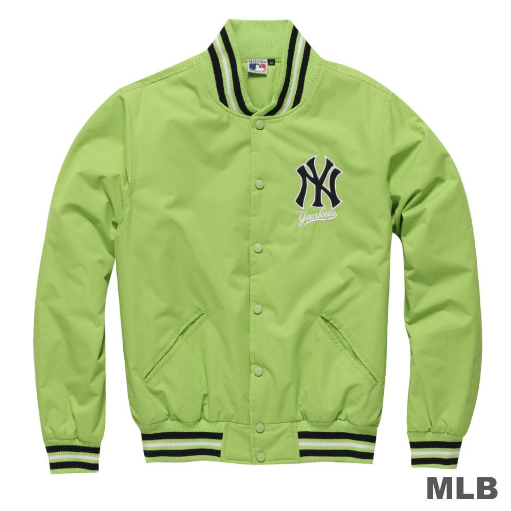 MLB-紐約洋基隊鋪棉玩色棒球外套-粉綠男