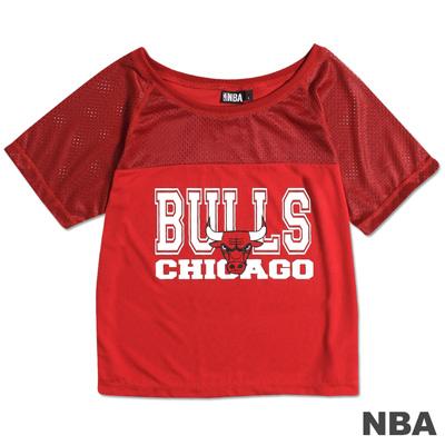 NBA-芝加哥公牛隊運動風百搭上衣-紅(女)