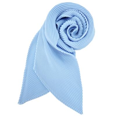 ISSEY MIYAKE 三宅一生三宅一生 三宅一生 PP系列亮絲筆管型脖圍(水藍)
