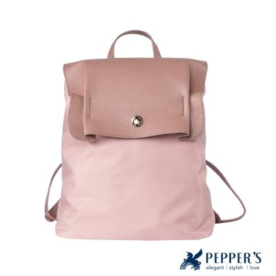 PEPPER'S 胡椒真皮尼龍後背包 - 玫瑰粉