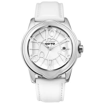 GOTO Romance時尚腕錶-白/39mm