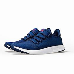 【ZEPRO】男子ALL-ROUND系列全飛織運動休閒鞋-海軍藍