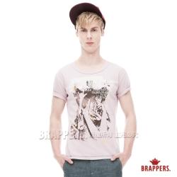 BRAPPERS 男款 個性風格純棉圓領短袖T恤-粉