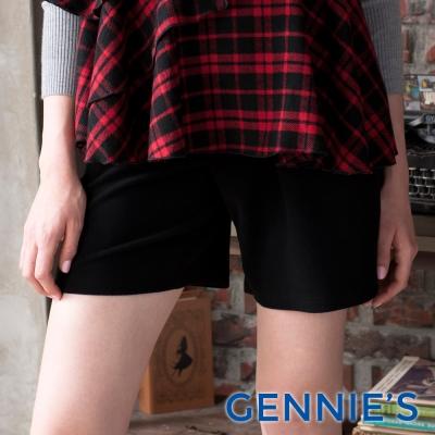 Gennies專櫃-親膚面料一體成型短褲(C4A05)-黑