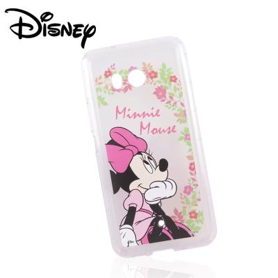 Disney迪士尼HTC U11防摔氣墊空壓保護套_賞花米妮
