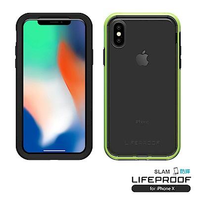 LIFEPROOF iPhone X專用 吸震抗衝擊防摔手機殼-SLAM(黑綠)