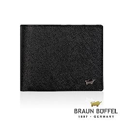 BRAUN BUFFEL - RUFINO洛非諾III系列12卡中翻皮夾-經典黑