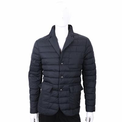 PEUTEREY 深藍色絎縫西裝剪裁羽絨外套