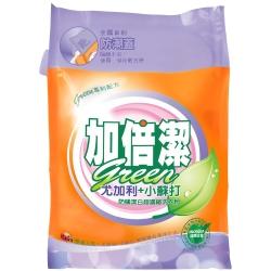 加倍潔 尤加利+小蘇打防蹣潔白 超濃縮洗衣粉 補充包 2kg/袋