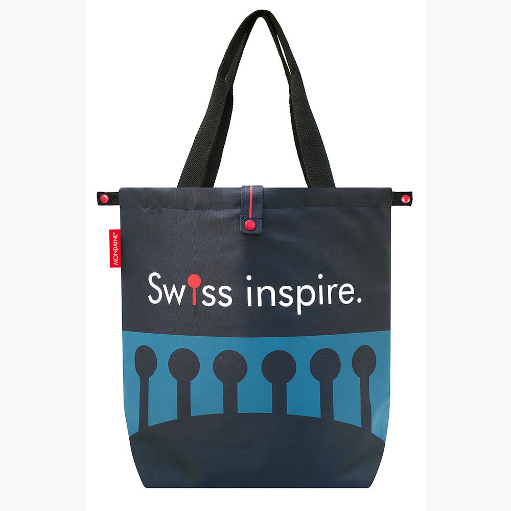 MONDAINE 瑞士國鐵摺疊包-瑞士拱橋(藍)