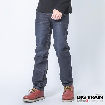 BIG TRAIN 墨達人和柄小直筒-男-深藍