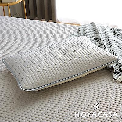 HOYACASA創新可水洗乳膠透氣枕套(氣質灰)