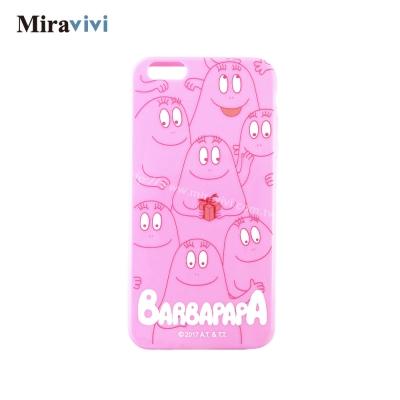 BARBAPAPA泡泡先生iPhone 6/6S Plus(5.5吋)粉色空壓保...