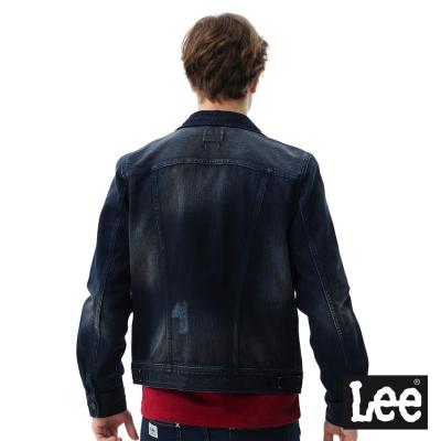 Lee 襯衫式牛仔外套-男款-深藍