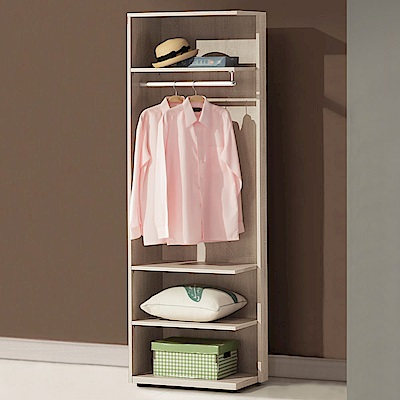 Homelike 美莎2尺開放式衣櫃-60x40x194cm