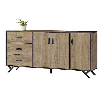 品家居 特斯拉6尺橡木紋餐櫃下座-180x40x83cm免組