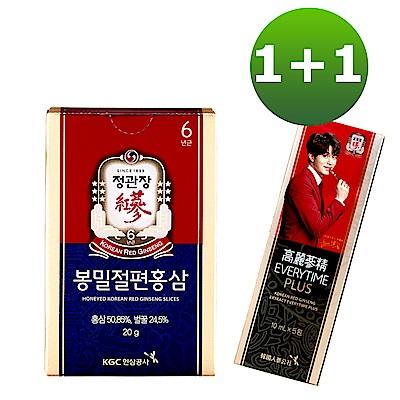 正官庄 高麗蔘精EVERYTIME PLUS5入+蜂蜜切片20g