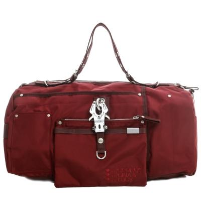 GG&L-OVERNIGHT手提斜背行李袋-煙囪紅