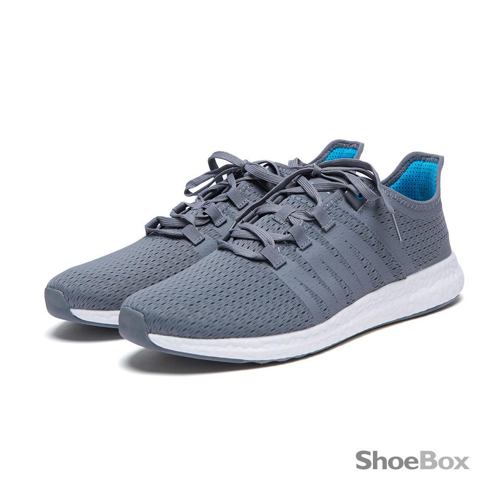 鞋櫃ShoeBox 男鞋-慢跑鞋-透氣網布輕量運動鞋1016414211-灰
