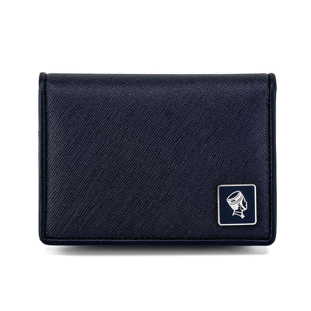 PORTER - 法式時尚BEND真皮名片夾 - 深藍