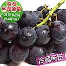 【愛蜜果】溪湖巨峰葡萄3串箱裝共2箱~約2.5斤/每箱(冷藏配送)