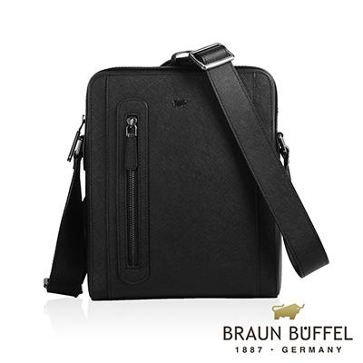 BRAUN BUFFEL - RUFINO-C洛非諾III系列紳士斜背包 - 經典黑