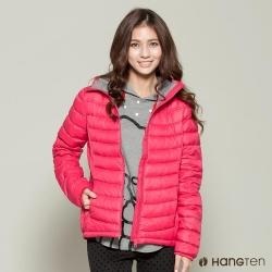 Hang Ten - 女裝 - 撞色連帽超輕羽