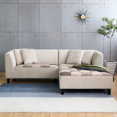 MODERN DECO LANZA 蘭莎舒柔拼格設計L型布沙發