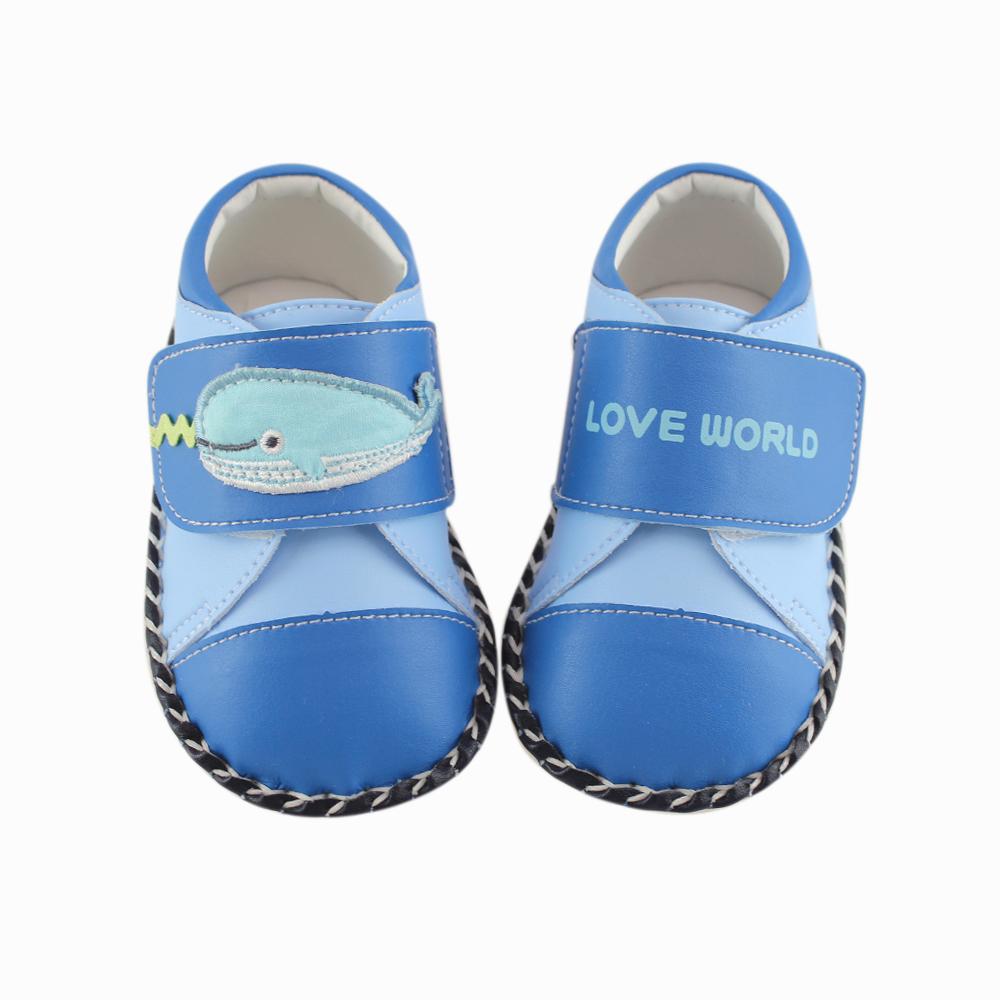 愛的世界 鯨魚寶寶鞋/學步鞋-台灣製-