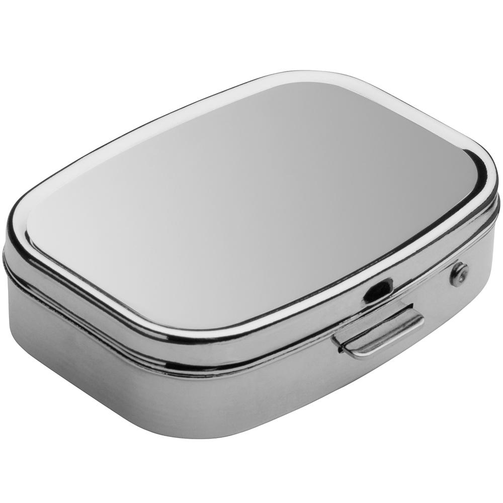 REFLECTS 雙格藥盒(亮銀)