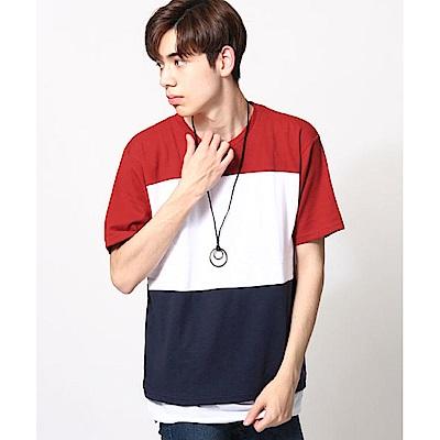 三色拼接短袖T恤三件組(4色) ZIP日本男裝