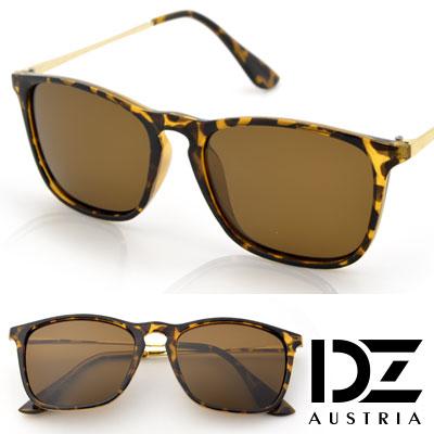 【2件59折】DZ 摩登趨勢 抗UV 偏光 太陽眼鏡墨鏡(斑框褐片)