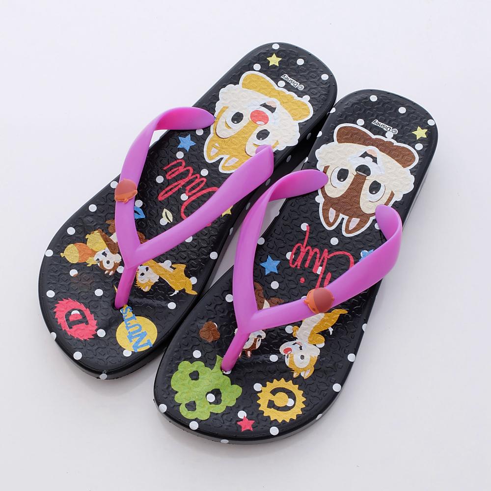 Disney迪士尼-奇奇&蒂蒂繽紛夾腳鞋-44024704黑(女段)