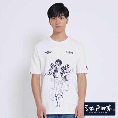 EDWIN EDOKATSU江戶勝歌舞技長版T恤-男-米白
