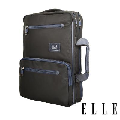 ELLE城市都會休旅系列大容量機能收納13吋筆電手提/後背/公事包-黑83910