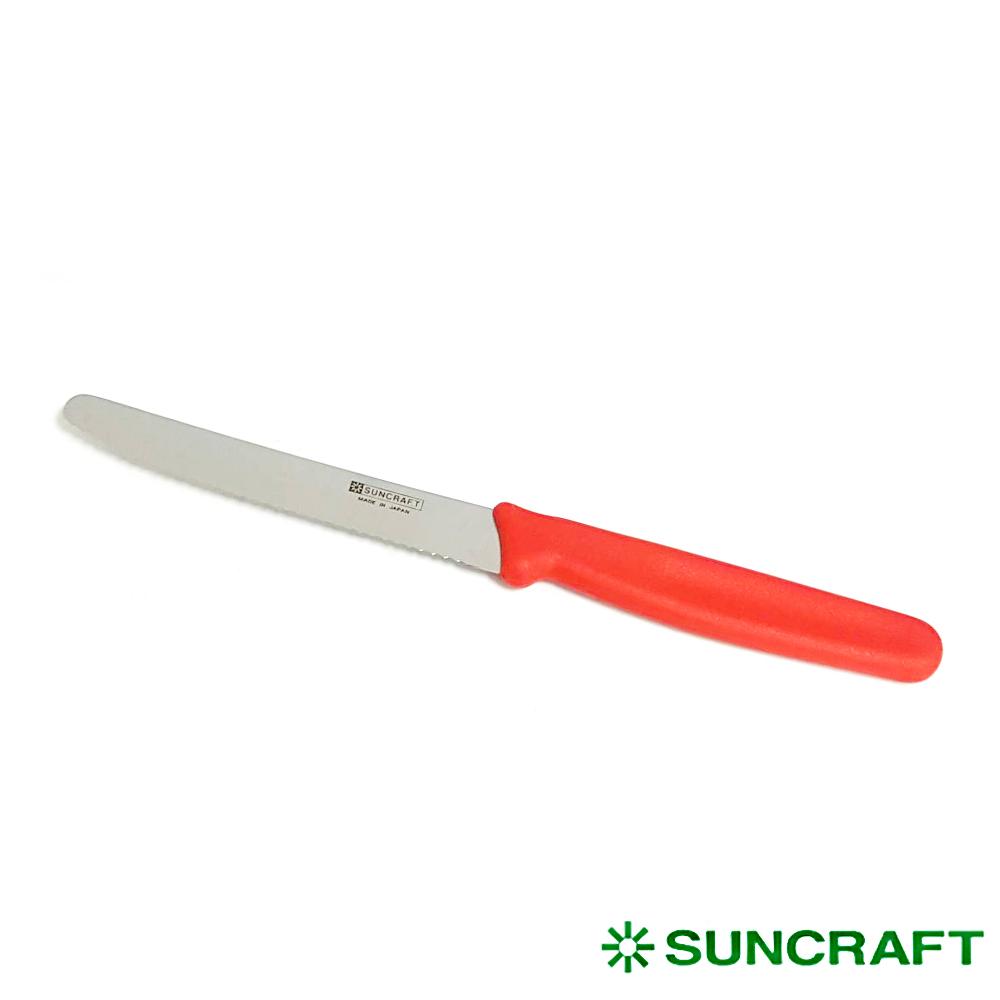日本川鉔悒]/水果鋸齒刀附塑膠套- 紅