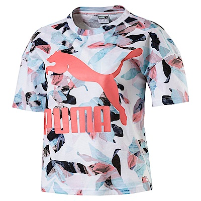 PUMA-女性流行系列經典Logo印花短袖T恤-海貝粉-亞規