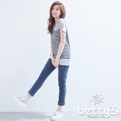 betty-s貝蒂思-修飾剪裁設計長褲-靛藍