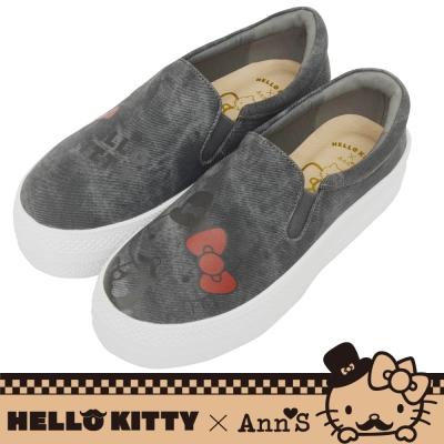 HELLO KITTY X Ann S文青達利厚底懶人鞋-黑