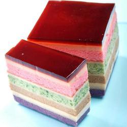 老耿 冰晶千層彩虹布丁蛋糕(500g)
