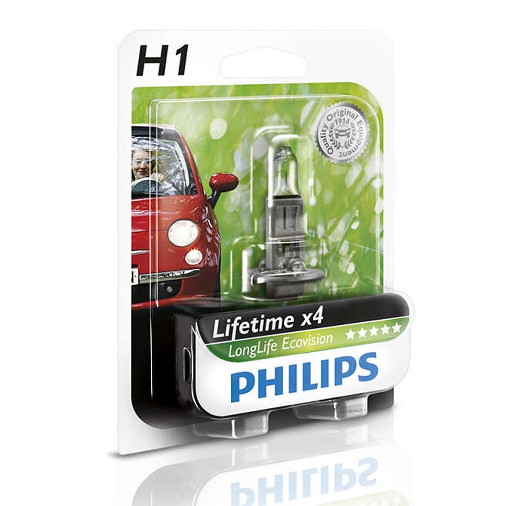 PHILIPS 飛利浦 四倍壽命環保車燈(H1/ H4)公司貨-急速配