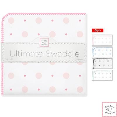 Swaddle Designs 法蘭棉絨多用途嬰兒包巾-可愛點點