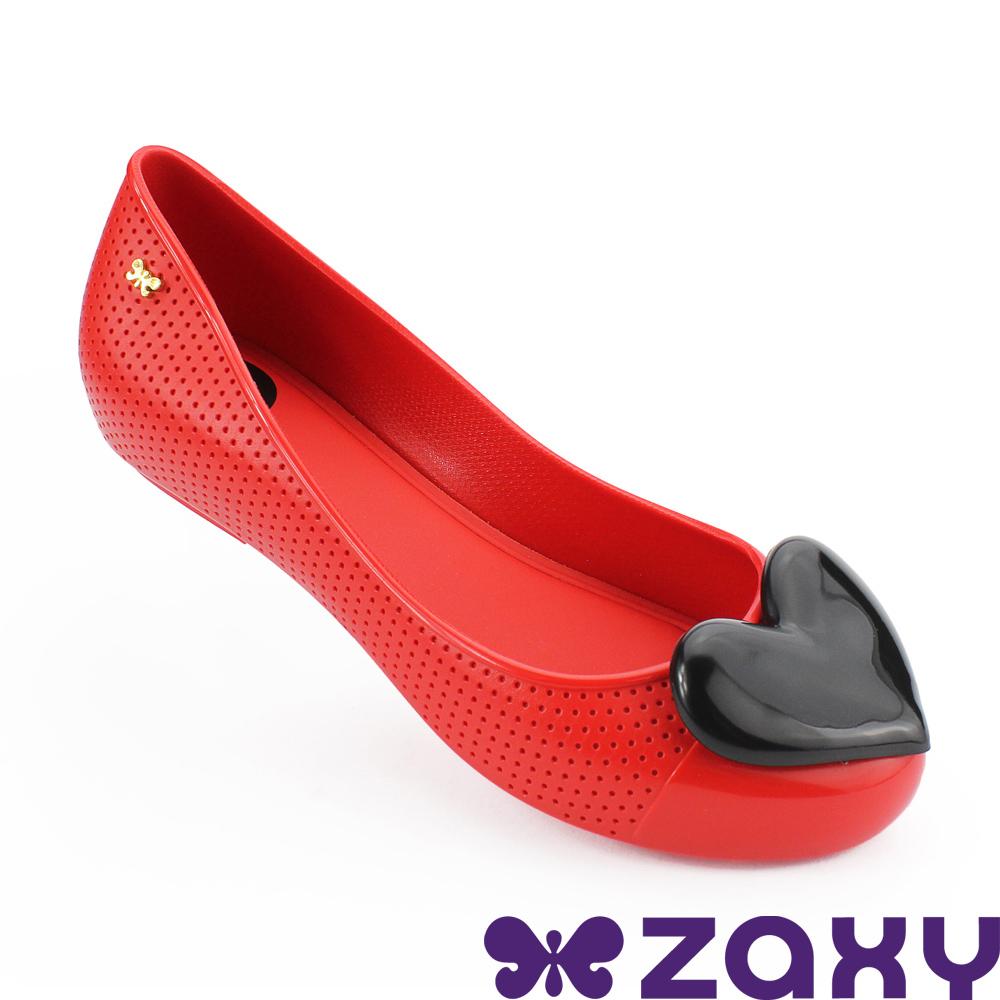 Zaxy 巴西 女 熱戀甜心平底娃娃鞋-紅色