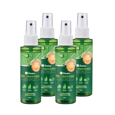 小獅王辛巴 綠活系奶瓶蔬果洗潔噴霧(120ml)4入組
