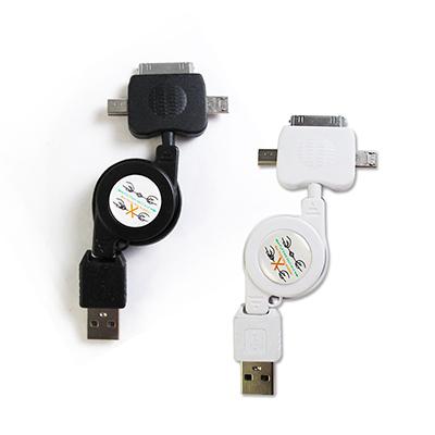 輕巧三合一USB傳輸充電線iPhone / Mini / MicroUSB通用