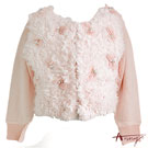 Ann貴族珍珠蕾絲毛絨外套*4297粉